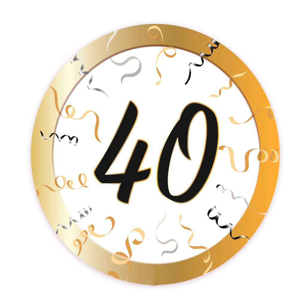 Set 8 platos 40 cumplea os 23 cm env o 24 horas for Mobilia anos 40