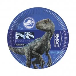 Set 8 Platos Jurassic World Modelo B 22 cm