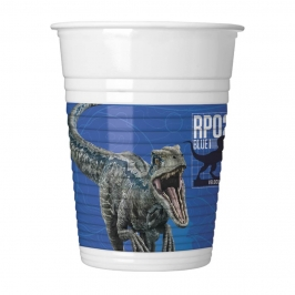 Set 8 Vasos Jurassic World Modelo B