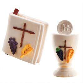 Set comunión Cáliz y Biblia de azúcar