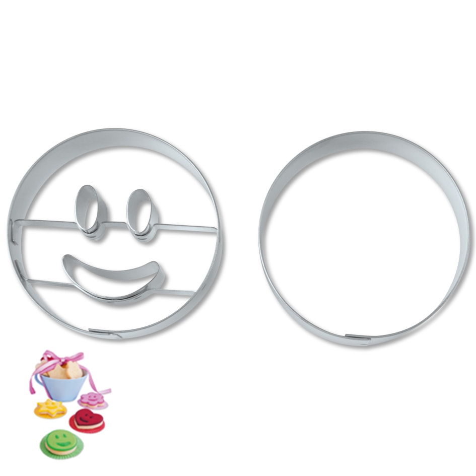 Juego de Cortadores círculo sonriente