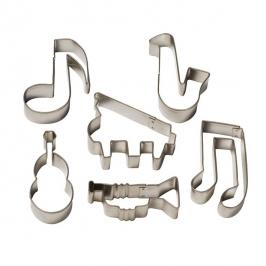 Juego de 6 cortadores de galletas musicales