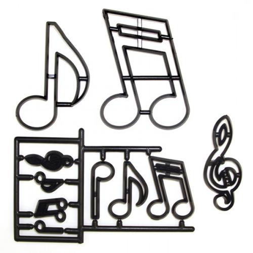 Set Cortadores Patchwork Notas Musicales