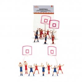 Set de 10 figuras de baloncesto para decorar tartas