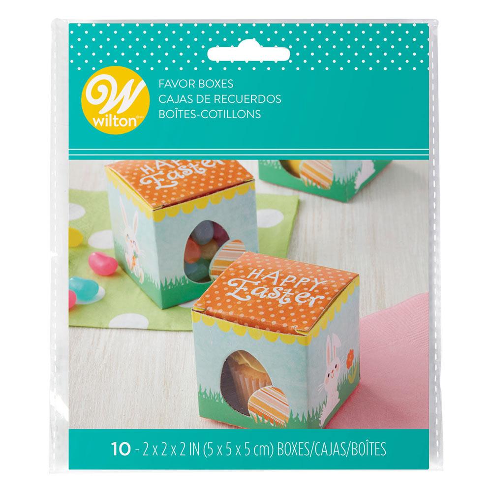 Set de 10 mini cajas de cartón para cupcakes o dulces de Huevo de Pascua