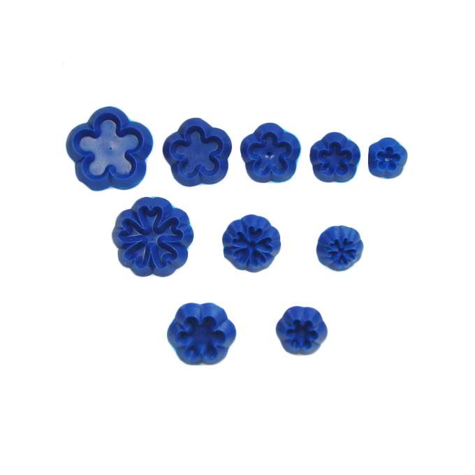 Set de 10 mini cortadores de flores