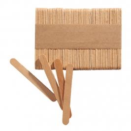 Set de 100 mini palitos de madera tus polos caseros de 7 cm