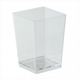 Set de 100 vasitos de plástico cuadrados de 7 cm x 5 cm