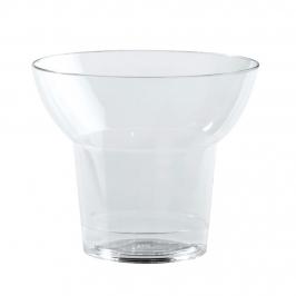 Set de 100 vasitos de plástico transparentes de 6 cm