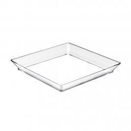 Set de 12 bandejas transparentes cuadradas de 13 cm