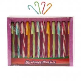 Set de 12 Bastones de Caramelo Arco Iris