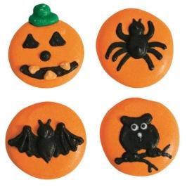 Set de 12 Decoraciones de Azúcar Halloween