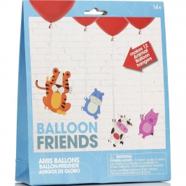 Set de 12 Globos con decoraciones de Animales