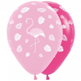 Set de 12 Globos Flamingo Fashion 30 cm