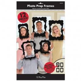 Set de 12 Marcos Negros para Photocall