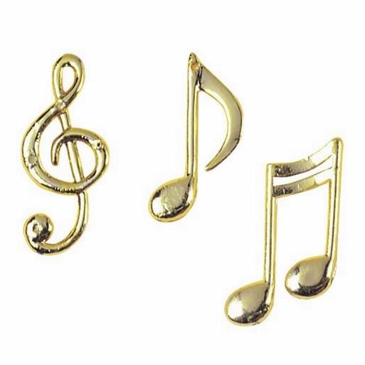 Set De 12 Notas Musicales Decorativas
