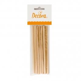 Set de 12 palitos de madera de abedul para usar con dulces 30 cm