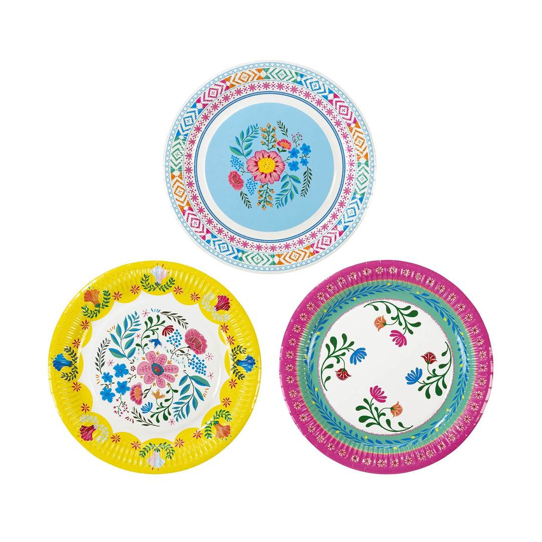 Set de 12 Platos Boho Mix Floral 22 cm  28d08ff7cdc