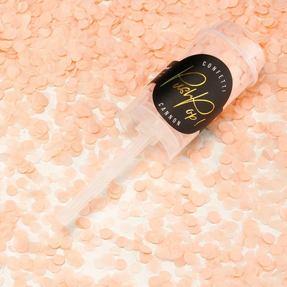 Set de 12 Push Pop Confetti Melocotón