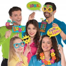 Set de 13 Accesorios para Photocall Hawaii Luau