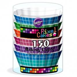 Set de 150 Cápsulas para Cupcakes Modelo Píxel