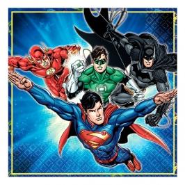 Set de 16 Servilletas Liga de la Justicia