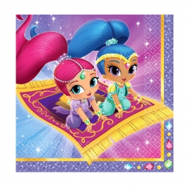 Set de 16 Servilletas Shimmer y Shine