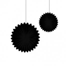 Set de 2 Abanicos Negro de 30 cm