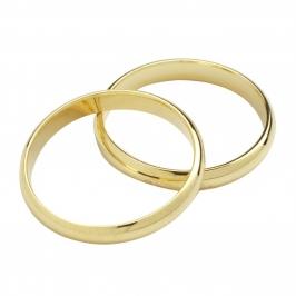 Set de 2 anillos de boda dorados