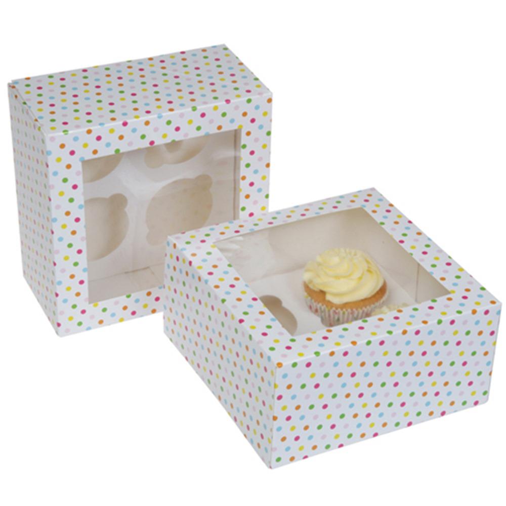 Set de 2 Cajas para 4 Cupcakes modelo Confetti