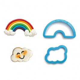 Set de 2 Cortadores de Plástico Arcoiris y Nube