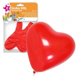 Set de 2 Globos Rojos Corazón 50 cm