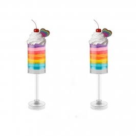 Set de 2 Push Up Cake Pop redondos para hacer postres