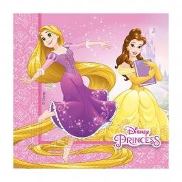Set de 20 Servilletas Princesas Disney Heart