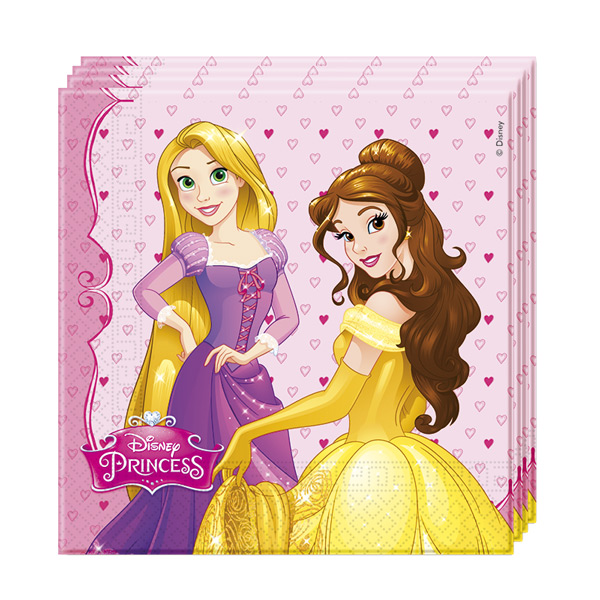 Set de 20 Servilletas Princesas Disney