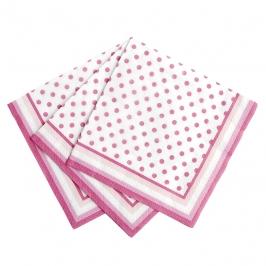 Set de 20 servilletas rosas con lunares