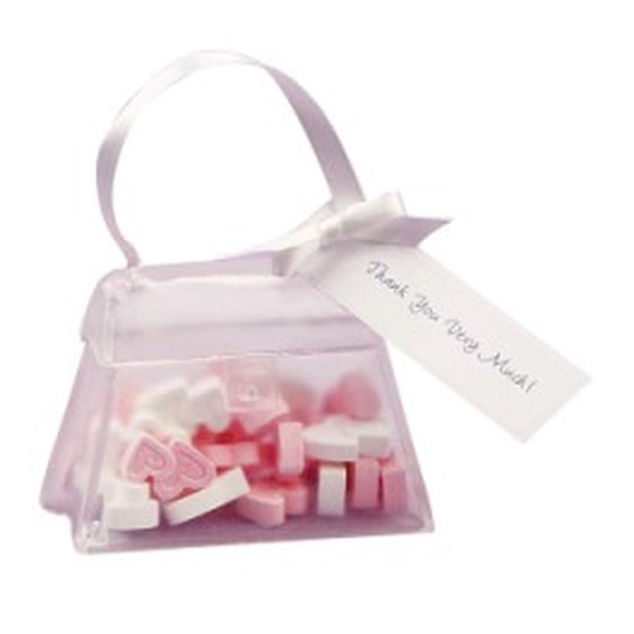 Set de 24 bolsos decorativos con lazo y tarjeta