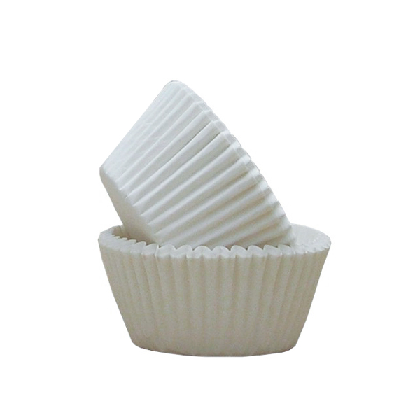 Set de 24 Cápsulas para Cupcakes Blancas