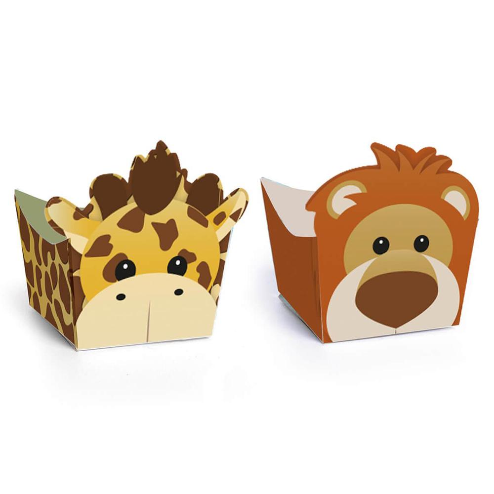 Set de 24 Mini Recipientes para Dulces Jirafa y León
