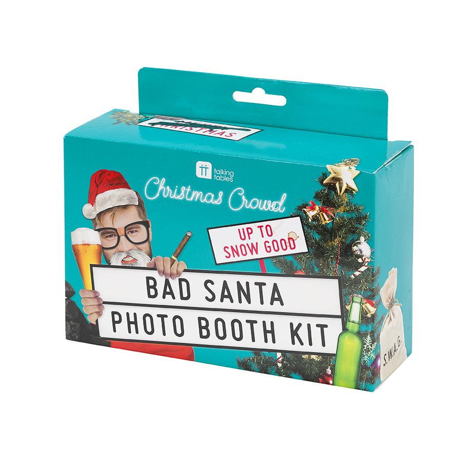 Set de 26 Accesorios para Photocall Bad Santa