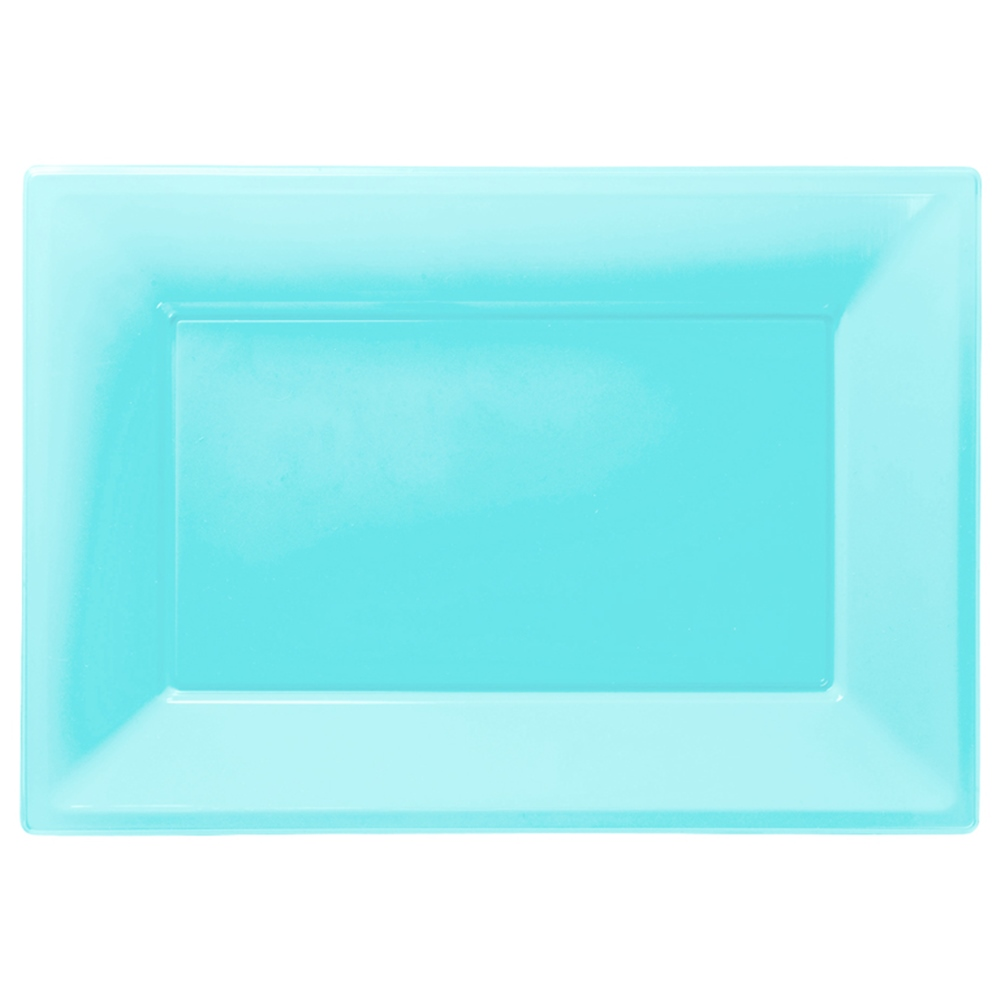 Set de 3 Bandejas Azul Caribe 33 cm x 23 cm