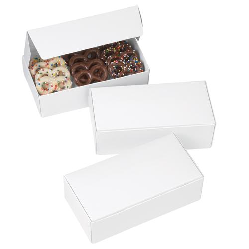 Set de 3 cajas para dulces blancas