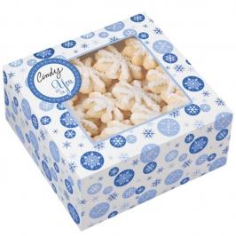 Set de 3 cajas para dulces Copos azules