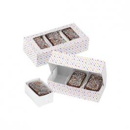 Set de 3 cajas para dulces lunares multicolor