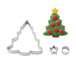 Set de 3 cortadores árbol de navidad