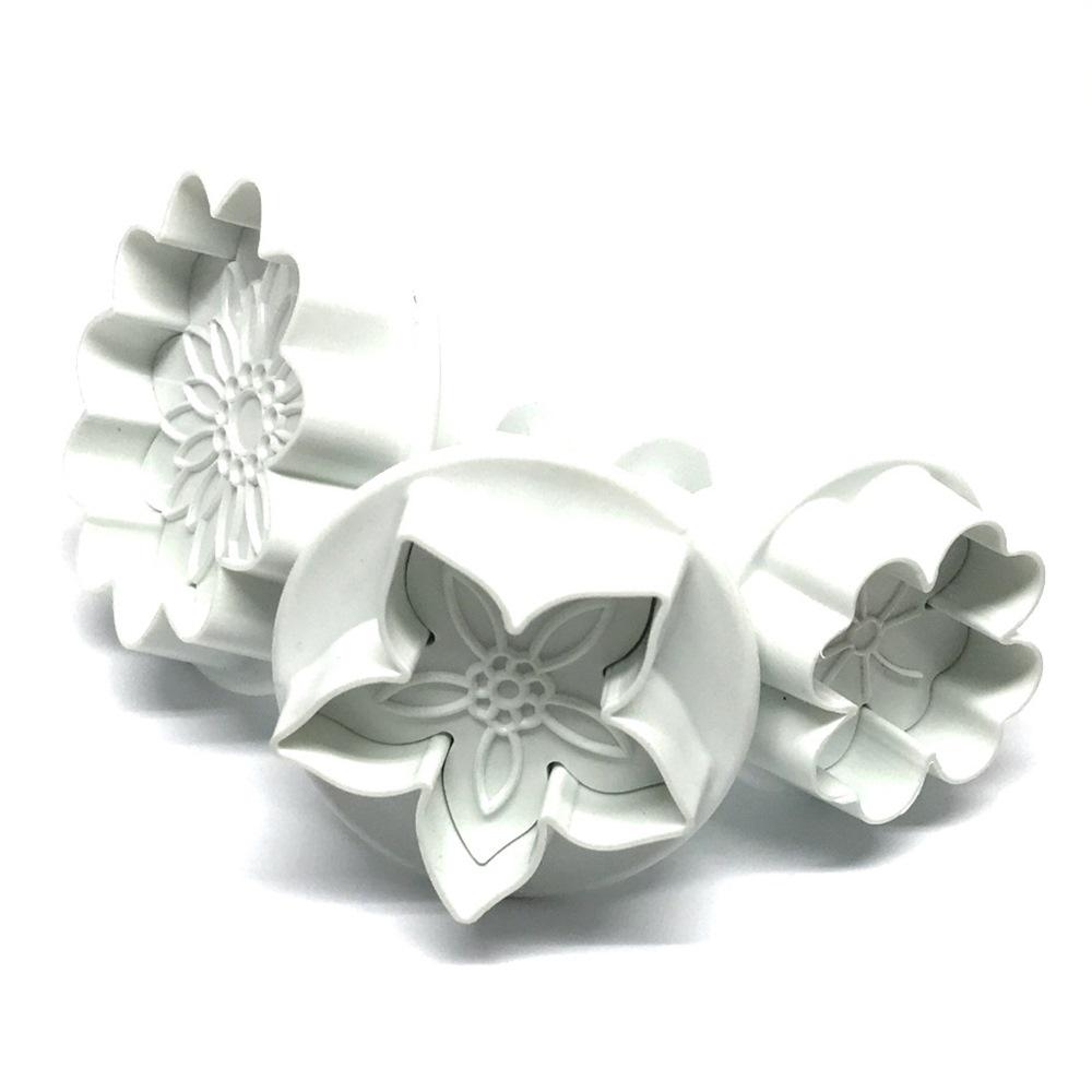 Set de 3 Cortadores con expulsor Flower Mix