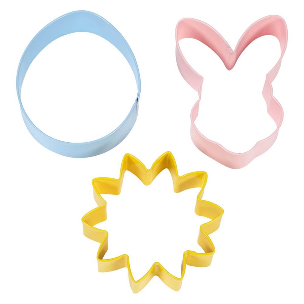 Set de 3 Cortadores Flor, Huevo y Conejo