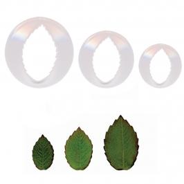 Set de 3 cortadores hojas de rosa PME