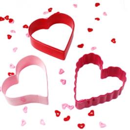 Set de 3 cortadores metálicos forma Corazón