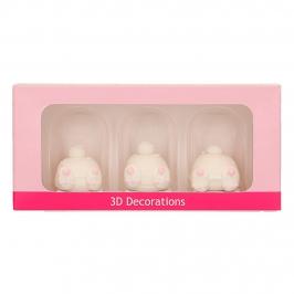 Set de 3 Decoraciones de Azúcar Conejos 3D